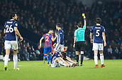 2nd December 2017, The Hawthorns, West Bromwich, England; EPL Premier League football, West Bromwich Albion versus Crystal Palace; Joel Ward of Crystal Palace performed a rugby tackle on Jay Rodriguez of West Bromwich Albion for which he receives a yellow card from Referee Michael Oliver