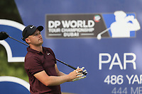 Tom Lewis (ENG) on the 16th tee during the 2nd round of the DP World Tour Championship, Jumeirah Golf Estates, Dubai, United Arab Emirates. 16/11/2018<br /> Picture: Golffile | Fran Caffrey<br /> <br /> <br /> All photo usage must carry mandatory copyright credit (© Golffile | Fran Caffrey)