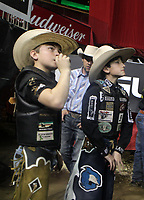 NEW YORK, NEW YORK- JANUARY 4: Backstage as Professional Bull Riders and New Yorkers &amp; Tourists attend the 2019 Monster Energy Buck Off at The Garden, presented by Ariat held at Madison Square Garden on January 4, 2019 in New York City.  <br /> CAP/MPI43<br /> &copy;MPI43/Capital Pictures