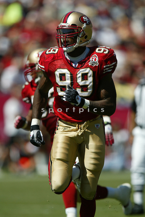 MANNY LAWSON, of the San Francisco 49er's , during their game against the St. Louis Rams on September 17, 2006 in San Francisco, CA...49er's win 20-13..Rob Holt / SportPics.