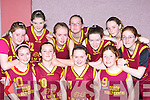 The St Joesph's Abbeyfeale team that competed in the Martha Boyle basketball blitz in Currow Community Centre on Sunday front row l-r: Louise Healy, Sarah Curtin, Chantelle Murphy, Ellie Moloney. Back row: Danielle Meehan, Karen Mangan, Marie, Lisa, Katie O'Connell, Leanne Mangan and Shannyn Sheehan   Copyright Kerry's Eye 2008