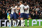 Tottenham's Moussa Sissoko (2nd L) celebrates after he scores to make it 3-0 during the Premier League match at the Tottenham Hotspur Stadium, London. Picture date: 30th November 2019. Picture credit should read: Paul Terry/Sportimage
