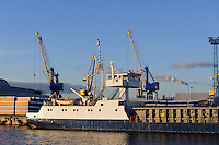 Überseehafen in Wismar, Mecklenburg-Vorpommern, Deutschland