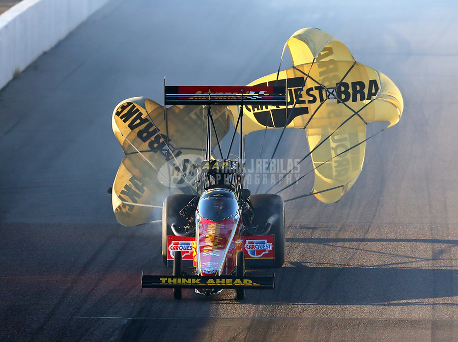 Feb 23, 2019; Chandler, AZ, USA; NHRA top fuel driver Brittany Force during qualifying for the Arizona Nationals at Wild Horse Pass Motorsports Park. Mandatory Credit: Mark J. Rebilas-USA TODAY Sports
