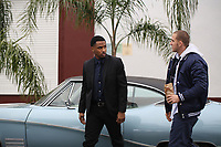 BLOOD BROTHER (2018)<br /> Trey Songz (&quot;Sonny&quot;, left) and Jack Kesy (&quot;Jake Banning&quot;, right) star in BLOOD BROTHER. <br /> *Filmstill - Editorial Use Only*<br /> CAP/FB<br /> Image supplied by Capital Pictures