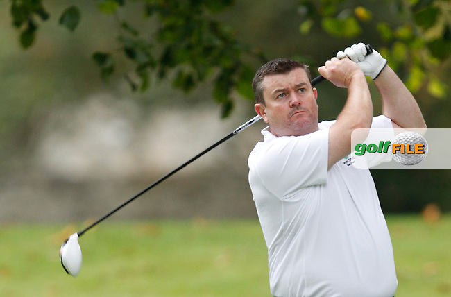 Raymond Burns (Lisheen Springs GC) on the 11th tee during Round 2 of the 104th Irish PGA Championship at Adare Manor Golf Club on Friday 3rd October 2014.<br /> Picture:  Thos Caffrey / www.golffile.ie