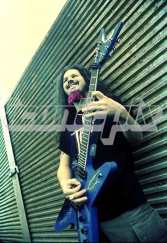 Pantera - guitarist Dimebag Darrell Abbott backstage at the Monsters of Rock at Donington Park UK - 04 Jun 1994.  Photo credit: Eddie Malluk / IconicPix