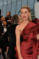 "CANNES, FRANCE. May 17, 2019: Amber Heard at the gala premiere for ""Pain and Glory"" at the Festival de Cannes.<br /> Picture: Paul Smith / Featureflash"
