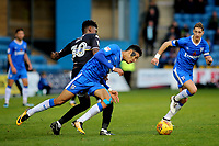 Sean Clare of Gillingham is fouled by Bury's Rohan Ince during Gillingham vs Bury, Sky Bet EFL League 1 Football at the MEMS Priestfield Stadium on 11th November 2017