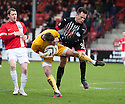 Ayr keeper David Hutton saves from Par's Lawrence Shankland.