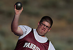 Steven Markwell, from  Pahrump, competes in the shot put at the Special Olympics Nevada 2013 Summer Games in Reno, Nev., on Saturday, June 1, 2013. <br /> Photo by Cathleen Allison