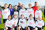 The St Finians NS, Waterville players in the Cumann na mbunscoil mini sevens finals in Fitzgerald Stadium on Thursday front row l-r: Aoife Dwyer, Sarah O'Sullivan, Shonagh Fitzpatrick, Ella Courtney, Leah Dwyer. Back row: Brianna O'Sullivan, Miriam Lyne, Jessica Galvin, Eugene Dennehy, Katie Galvin, Rachel Dwyer, Dan Fitzpatrick, Leanne O'Sullivan