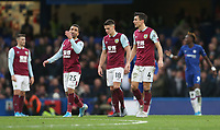 Dejection for Burnley players Aaron Lennon, Ashley Westwood and Jack Cork<br /> <br /> Photographer Rob Newell/CameraSport<br /> <br /> The Premier League - Chelsea v Burnley - Saturday 11th January 2020 - Stamford Bridge - London<br /> <br /> World Copyright © 2020 CameraSport. All rights reserved. 43 Linden Ave. Countesthorpe. Leicester. England. LE8 5PG - Tel: +44 (0) 116 277 4147 - admin@camerasport.com - www.camerasport.com