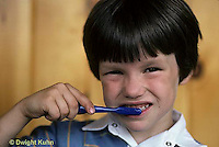 FA13-001z  Child brushing teeth