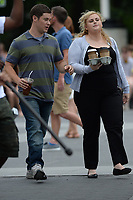 www.acepixs.com<br /> July 12, 2017 New York City<br /> <br /> Rebel Wilson and Adam Devine filming the movie 'Isn't It Romantic' in Washington Square Park on in New York City on July 12, 2017.<br /> <br /> Credit: Kristin Callahan/ACE Pictures<br /> <br /> Tel: 646 769 0430<br /> Email: info@acepixs.com