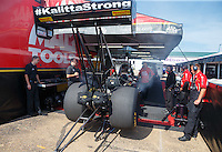May 22, 2016; Topeka, KS, USA; NHRA top fuel driver Doug Kalitta during the Kansas Nationals at Heartland Park Topeka. Mandatory Credit: Mark J. Rebilas-USA TODAY Sports