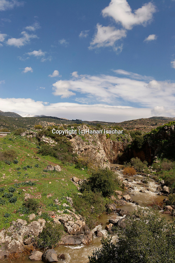 The Golan Heights. A view of Sa'ar stream