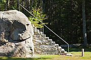 Ordination Rock in Tamworth, New Hampshire USA. This is where the Rev. Parson Samuel Hidden was ordained on September 12, 1792 and became the first settled minister in Tamworth.