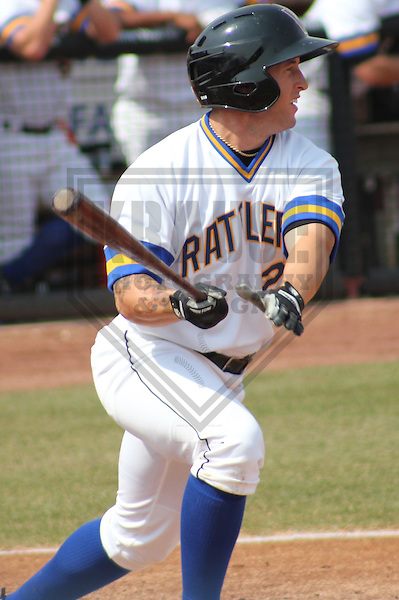 APPLETON - APRIL 2011: Robbie Garvey (2) of the Wisconsin Timber Rattlers, Class-A affiliate of the Milwaukee Brewers, during a game on April 10, 2011 at Fox Cities Stadium in Appleton, Wisconsin. (Photo by Brad Krause) ....