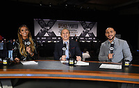LOS ANGELES - SEPTEMBER 25: Fox's Kate Adbo, Ray Mancini, and Keith Thurman host the Fox Sports PBC Pay-Per-View fight night final press conference on September 25, 2019 in. Los Angeles, California. (Photo by Frank Micelotta/Fox Sports/PictureGroup)