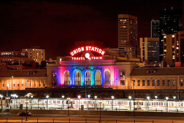 Union Station and 16th Street Mall in downtown, Denver; Colorado. .  John offers private photo tours in Denver, Boulder and throughout Colorado. Year-round Colorado photo tours.