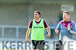 Causeway Trainer Stephen Goggin before the Senior Kerry County Hurling Semi Finals between Lixnaw v Kilmoyley at Austin Stack park on Saturday last.