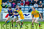 Tomás Ó Sé Kerry in action against Cathal McConnell Meath in the All Ireland Junior Football Final at O'Moore Park, Portlaoise on Saturday.