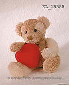 Interlitho, Alberto, CUTE ANIMALS, teddies, photos, teddy, red heart(KL15888,#AC#)
