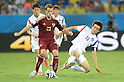 (L-R) Lee Chung-Yong (KOR), Dmitri Kombarov (RUS), Koo Ja-Cheol (KOR),<br /> JUNE 17, 2014 - Football / Soccer :<br /> FIFA World Cup Brazil 2014 Group H match between Russia 1-1 South Korea at Arena Pantanal in Cuiaba, Brazil. (Photo by SONG Seak-In/AFLO)