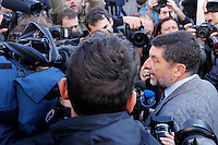 Giosue' Naso, avvocato di Massimo Carminati, parla ai giornalisti all'esterno del Tribunale, in occasione dell'apertura del processo su Mafia Capitale, a Roma, 5 novembre 2015.<br /> Massimo Carminati's lawyer Giosue' Naso talks to reporters outside of the court, on the occasion of the opening of the trial on Mafia Capitale, in Rome, 5 November 2015.<br /> UPDATE IMAGES PRESS/Riccardo De Luca