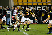 Daniel Crichton heads over the halfway into enemy territory. Air New Zealand Cup rugby game between Counties Manukau Steelers & Wellington played at Mt Smart Stadium on the 31st August 2007. The Score was 13 all at halftime, with Wellington going on to win 33 - 18.
