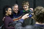 © Joel Goodman - 07973 332324 . 11/04/2015 . Manchester , UK . Clint Boon poses for photos with fans . Black Grape perform a reunion gig in support of Bez's Reality Party at the Old Granada Studios Warehouse . Photo credit : Joel Goodman