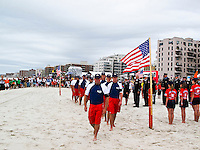"LONG BEACH, Long Island/New York (Friday, September 11, 2011)    Long Beach Hosts 9/11 Memorials. At 10 a.m. - A beach mass and ecumenical service was held at National Boulevard beach..followed by a Paddle Out with fire department, police department, military and lifeguards at National Boulevard beach to honor the fallen on 9/11.           .Local surfers  were joined by professional surfers from the Quiksilver Pro New York in the ""paddle out"" tribute to the victims of 9/11/01 at Long Beach New York and Rockaway Beach NY on 9/11/02. Many firefighters and police who died in the attack lived in Long Beach and Rockaway and were surfers..Over 350 surfers paddled out..   Photo: joliphotos.com"