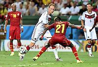 FUSSBALL WM 2014  VORRUNDE    GRUPPE G     Deutschland - Ghana                 21.06.2014 Benedikt Hoewedes (li, Deutschland) gegen John Boye (re, Ghana)