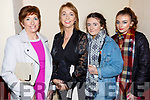 Brid Ann  and Maura O'Connor, Bronagh O'Neill and Danielle O'Neill  enjoying the Castleisland Fashion show in the Ivy Leaf on Thursday night