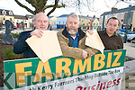 ENTERPRISE: With some of the entries for South Kerry Development Partnership's Farmbiz enterprise competition, l-r: John Pierce (Chief Executive), Cllr Johnny O'Connor (Agricultural Ctte), Emmet Spring (Rural Development Officer).