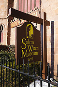 Salem Witch Museum in Salem, Massachusetts, USA which is part of New England