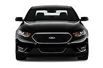 Car photography straight front view of a 2017 Ford Taurus SHO 4 Door Sedan Front View