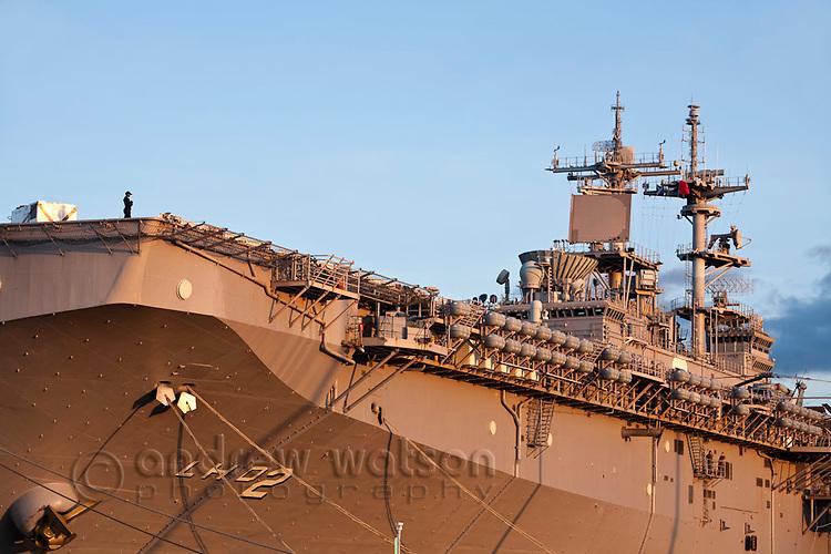 The USS Essex - an amphibigious assault ship.  Cairns, Queensland, Australia