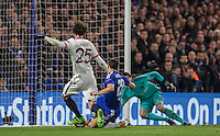 Adrien Rabiot of Paris Saint-Germain scores the first goal of the game during the UEFA Champions League Round of 16 2nd leg match between Chelsea and PSG at Stamford Bridge, London, England on 9 March 2016. Photo by Andy Rowland.