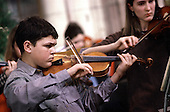 Rehearsal of Haringey Young Musicians Symphony Orchestra, part of Haringey LEA's music provision..