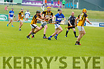 Cian Hussey of St Brendans in possession despite the attention of Abbeydorney's Brian and Michael O'Leary in R2 of the Senior Hurling Championship in Austin Stack Park on Sunday.