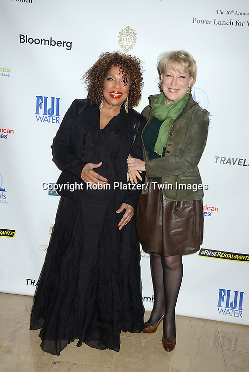 Roberta Flack and Bette Midler attends the 26th Annual Citymeals-on-Wheels Power Lunch for Women on November 16, 2012 at The Plaza Hotel in New York City. The honorees were Paula Zahn and Randi and Dennis Riese.