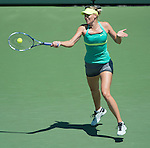 Maria Sharapova (RUS) loses to Serena Williams (USA) 4-6, 6-3, 6-0 in the finals at the Sony Open being played at Tennis Center at Crandon Park in Miami, Key Biscayne, Florida on March 30, 2013
