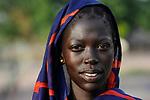 SOUTH SUDAN  Bahr al Ghazal region , Lakes State, town Rumbek , portrait of Dinka woman