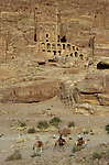 . camel in front of the Urn Tomb. Middle East. Jordan. Petra