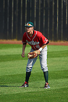 Great Lakes Loons outfielder Logan Landon (9) during a game against the Clinton LumberKings on August 16, 2015 at Ashford University Field in Clinton, Iowa.  Great Lakes defeated Clinton 3-2 in ten innings.  (Mike Janes/Four Seam Images)
