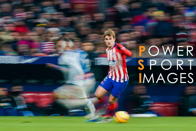 Antoine Griezmann of Atletico de Madrid in action during the La Liga 2018-19 match between Atletico de Madrid and RCD Espanyol at Wanda Metropolitano on December 22 2018 in Madrid, Spain. Photo by Diego Souto / Power Sport Images