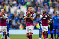 John Terry of Aston Villa claps the fans at the end of the Sky Bet Championship match between Cardiff City and Aston Villa at the Cardiff City Stadium, Cardiff, Wales on 12 August 2017. Photo by Mark  Hawkins / PRiME Media Images.