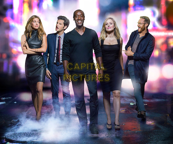 House of Lies (2012)<br /> (Season 4)<br /> Dawn Olivieri as Monica, Ben Schwartz as Clyde Oberholt,   Don Cheadle as Marty Kaan, Kristen Bell as Jeannie Van Der Hooven and Josh Lawson as Doug Guggenheim<br /> *Filmstill - Editorial Use Only*<br /> CAP/FB<br /> Image supplied by Capital Pictures